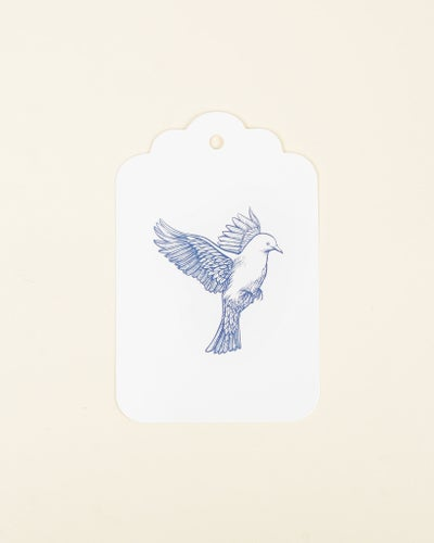 Redcurrent Blue Bird Gift Tag