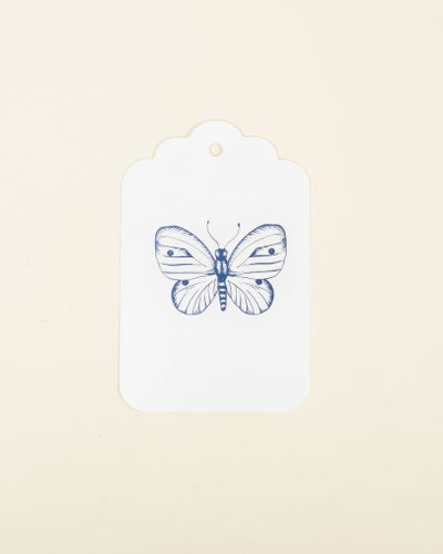 Redcurrent Blue Butterfly Gift Tag