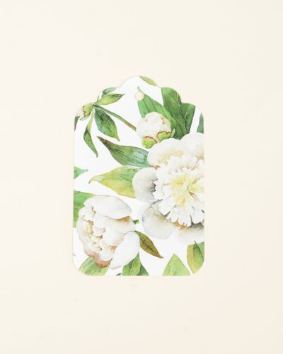Redcurrent White Peonies Gift Tagd