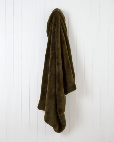 Moss Vermont Faux Fur Throw